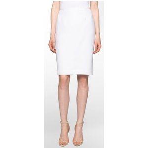 NWT Calvin Klein White Linen Skirt